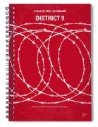 No023 My District9 Minimal Movie Poster Spiral Notebook