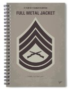No030 My Full Metal Jacket Minimal Movie Poster Spiral Notebook