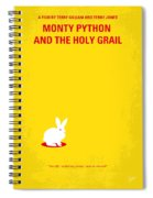No036 My Monty Python And The Holy Grail Minimal Movie Poster Spiral Notebook
