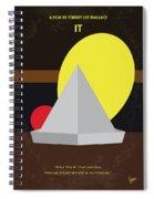 No043 My It Minimal Movie Poster Spiral Notebook