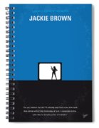 No044 My Jackie Brown Minimal Movie Poster Spiral Notebook