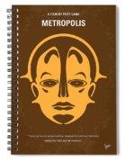No052 My Metropolis Minimal Movie Poster Spiral Notebook