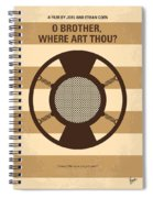 No055 My O Brother Where Art Thou Minimal Movie Poster Spiral Notebook