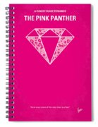 No063 My Pink Panther Minimal Movie Poster Spiral Notebook