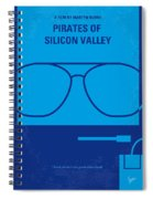 No064 My Pirates Of Silicon Valley Minimal Movie Poster Spiral Notebook