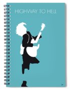 No065 My Acdc Minimal Music Poster Spiral Notebook