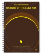 No068 My Raiders Of The Lost Ark Minimal Movie Poster Spiral Notebook