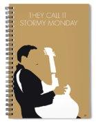 No070 My Tbone Walker Minimal Music Poster Spiral Notebook