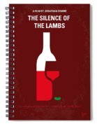 No078 My Silence Of The Lamb Minimal Movie Poster Spiral Notebook