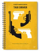 No087 My Taxi Driver Minimal Movie Poster Spiral Notebook