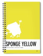 No10 My Minimal Color Code Poster Spongebob Spiral Notebook