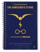 No101-1 My Hp - Sorcerers Stone Minimal Movie Poster Spiral Notebook