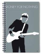 No107 My Mark Knopfler Minimal Music Poster Spiral Notebook