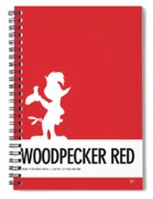 No12 My Minimal Color Code Poster Woody Woodpecker Spiral Notebook