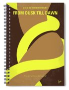 No127 My From Dusk This Dawn Minimal Movie Poster Spiral Notebook