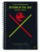 No156 My Star Wars Episode Vi Return Of The Jedi Minimal Movie Poster Spiral Notebook