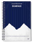 No158 My Scarface Minimal Movie Poster Spiral Notebook