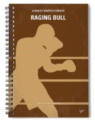 No174 My Raging Bull Minimal Movie Poster Spiral Notebook