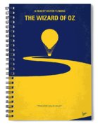 No177 My Wizard Of Oz Minimal Movie Poster Spiral Notebook