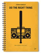 No179 My Do The Right Thing Minimal Movie Poster Spiral Notebook