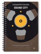 No181 My Sound City Minimal Movie Poster Spiral Notebook