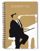 No190 My Fats Domino Minimal Music Poster Spiral Notebook