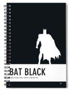 No20 My Minimal Color Code Poster Batman Spiral Notebook