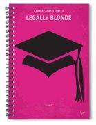No301 My Legally Blonde Minimal Movie Poster Spiral Notebook