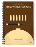 No318 My Rebel Without A Cause Minimal Movie Poster Spiral Notebook