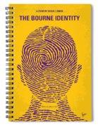 No439 My The Bourne Identity Minimal Movie Poster Spiral Notebook