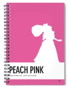 No44 My Minimal Color Code Poster Peach Spiral Notebook