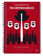 No463 My The Untouchables Minimal Movie Poster Spiral Notebook