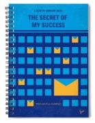 No464 My The Secret Succes Minimal Movie Poster Spiral Notebook