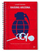 No477 My Raising Arizona Minimal Movie Poster Spiral Notebook