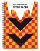 No482 My Speed Racer Minimal Movie Poster Spiral Notebook