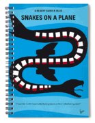 No501 My Snakes On A Plane Minimal Movie Poster Spiral Notebook