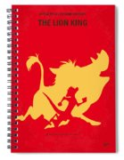 No512 My The Lion King Minimal Movie Poster Spiral Notebook