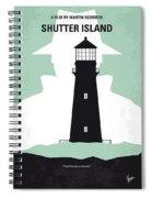 No513 My Shutter Island Minimal Movie Poster Spiral Notebook