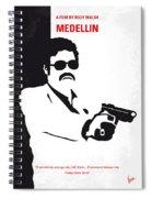 No526 My Medellin Minimal Movie Poster Spiral Notebook