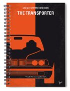 No552 My The Transporter Minimal Movie Poster Spiral Notebook