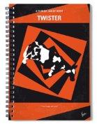 No560 My Twister Minimal Movie Poster Spiral Notebook