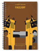 No576 My Face Off Minimal Movie Poster Spiral Notebook