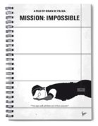 No583 My Mission Impossible Minimal Movie Poster Spiral Notebook