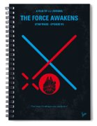No591 My Star Wars Episode Vii The Force Awakens Minimal Movie Poster Spiral Notebook