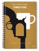 No596 My Tombstone Minimal Movie Poster Spiral Notebook