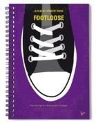 No610 My Footloose Minimal Movie Poster Spiral Notebook