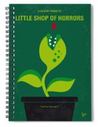 No611 My Little Shop Of Horrors Minimal Movie Poster Spiral Notebook