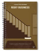 No615 My Risky Business Minimal Movie Poster Spiral Notebook