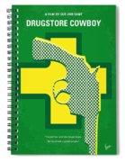 No628 My Drugstore Cowboy Minimal Movie Poster Spiral Notebook