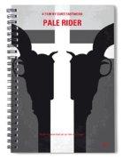 No640 My Pale Rider Minimal Movie Poster Spiral Notebook